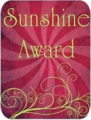 "Graphic image of ""Sunshine Award"""