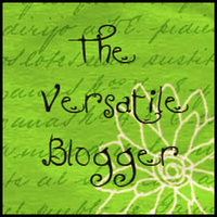 "Graphic image of ""The Versatile Blogger Award"""