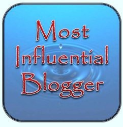 "Graphic image of ""Most Influential Blogger Award"""